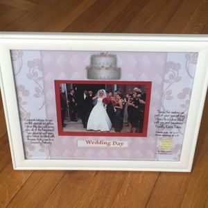 Beautiful White Personalized Wedding Picture Frame